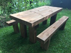hand made sleeper benches