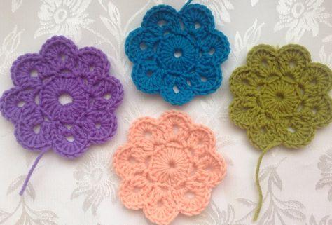 Benim Yaptm Maybelle Crochet Flowers Motiflerim I Am Learning