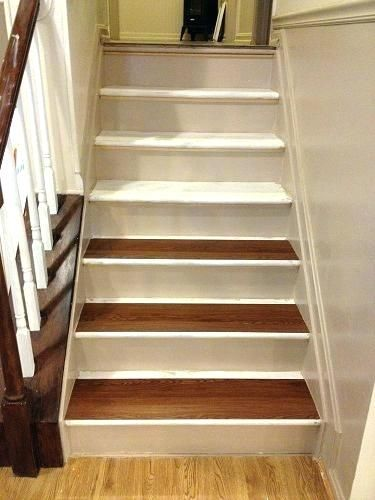 How To Install Vinyl Plank Flooring On Stairs White Refinished