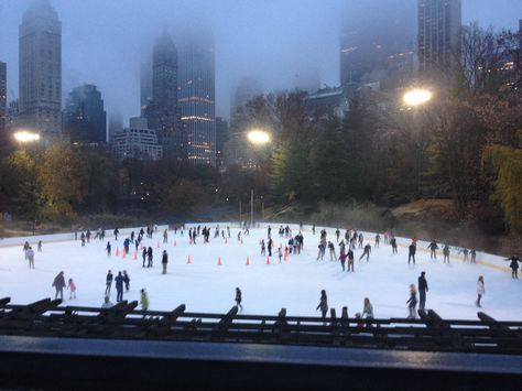 Ice skate ring Central Park, NYC