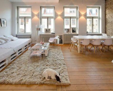 Sofás de pallets de madeira lindos e criativos spaces
