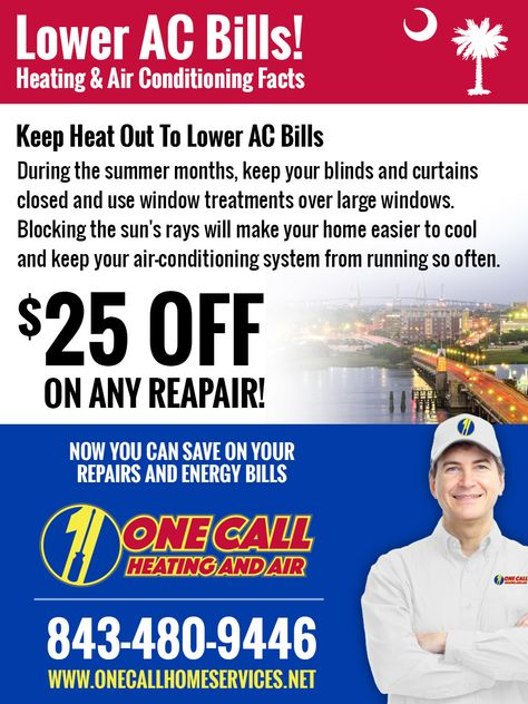 Pin By One Call Heating And Air On Hvac Charleston Sc Facts Air Conditioning Services Heating And Air Conditioning Lower Energy Costs
