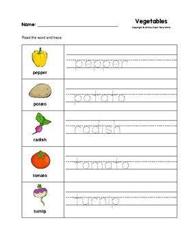 34+ Vegetables worksheet Info