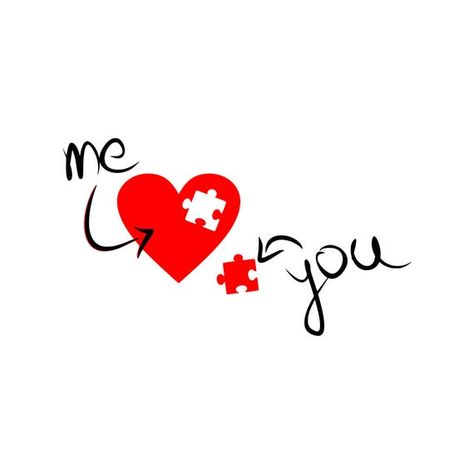 Me and you svg Love svg Valentines Day svg Heart svg Digital cutting file svg Cricut dxf Decal files