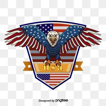 Cartoon National Flag Hand Painted Usa Flag Of The United States Eagle Blue Red Flight American Eagle Britain Flag Painting Hand Painted Cartoon Painting