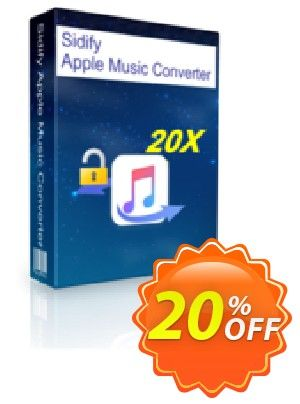 Sidify Apple Music Converter Coupon code 20% OFF, Fourth of