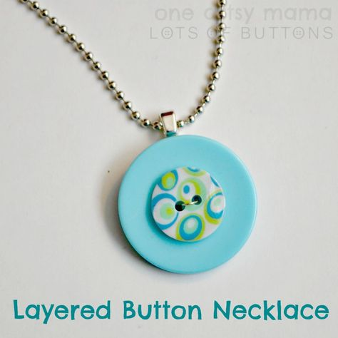 Layered Button Necklace