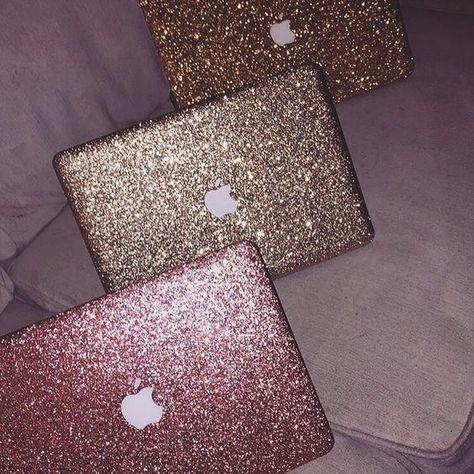 MacBook glitter case covers
