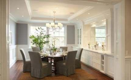 Breakfast Buffet Table Ideas Built Ins 48 Ideas In 2020 Built In Buffet Dining Room Remodel Dining Room Decor Traditional