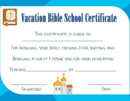 photo regarding Vbs Certificate Printable named VBS Certification Template VBS Certification Template