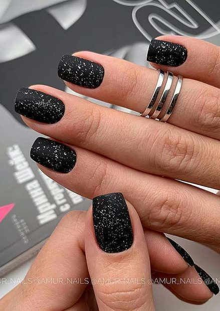 70 Simple Black Coffin Nail Designs For Winter Holidays In 2020 Square Nail Designs Green Nail Art Short Acrylic Nails