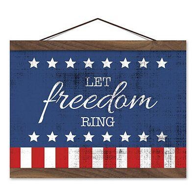 Let Freedom Ring Wooden Framed Wall Art