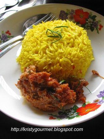 Nasi Kuning Rice Cooker : kuning, cooker, Cooker, Kunyit, Turmeric, Mixed, 香喷喷的黄姜饭, Recipes,, Recipes, Using, Rice,