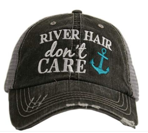 4bd6274acbd River Hair Don t Care -Anchor Design- Trucker Hat