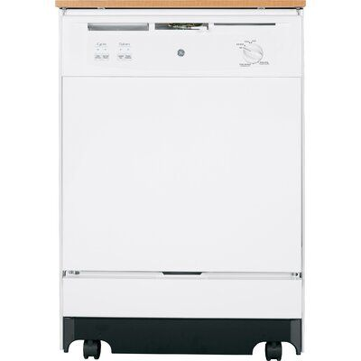 Ge Appliances 25 64 Dba Portable Full Console Dishwasher With