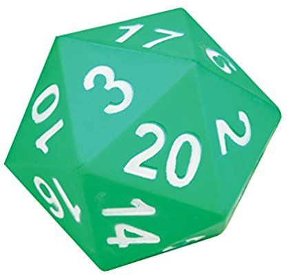 Amazon Com Learning Advantage Jumbo 20 Sided Foam Die D20 Giant Dice Industrial Scientific Epic Wedding Oct 2018 Games Classroom Math Games