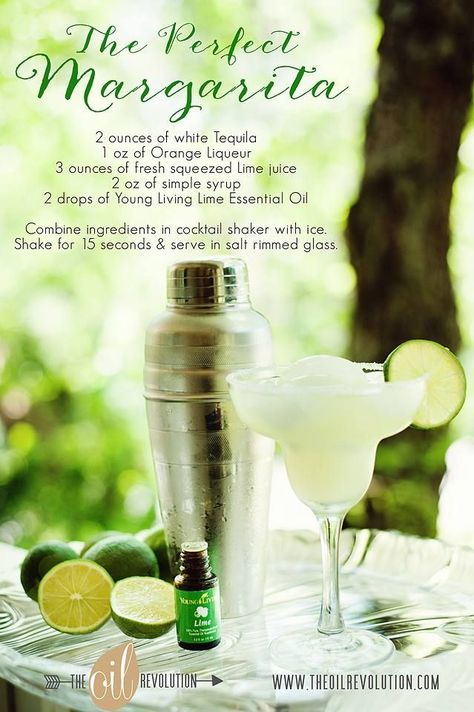 Yum!! The Perfect Margarita using lime essential oil!
