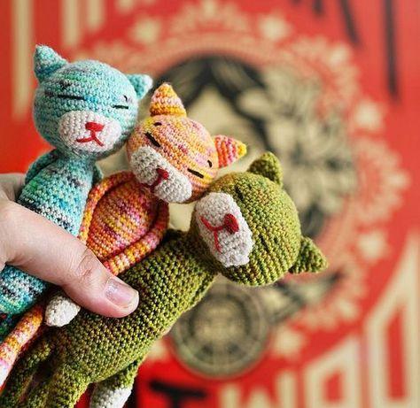 Kitty Cat Crochet Granny Square • Sewrella | 461x474