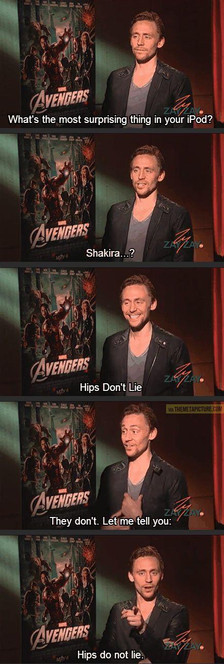 Tom Hiddleston just seems like a cool dude