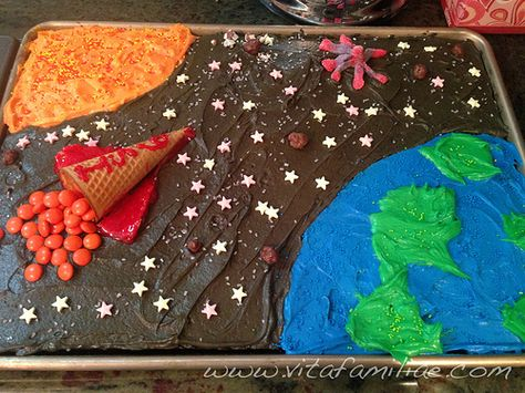 outer space cake very practical for a beginner or someone not willing to work with fondant/gumpaste