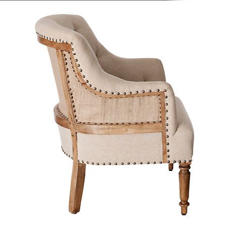 Enjoyable Product Details Tufted Exposed Back Mango Wood Accent Chair Camellatalisay Diy Chair Ideas Camellatalisaycom