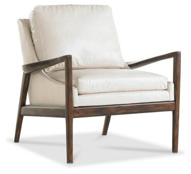 Ebonwood Accent Chair Ivory Leather Luxury Chairs Leather