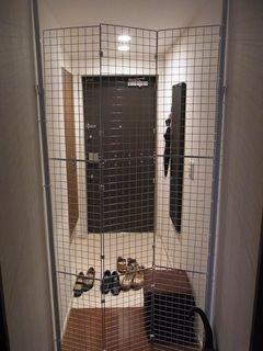 ネコ脱走防止柵を自作しました Ricoのつれづれblog ペット 柵 猫の家具 猫 網戸