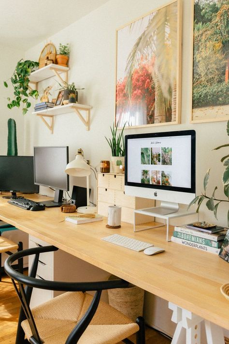 Our Home Office/Guest Bedroom — Black & Blooms office decor office design office ideas Home Office Space, Home Office Design, Home Office Decor, Home Decor, Office Ideas, App Office, Tiny Home Office, Office Decorations, Office Inspo