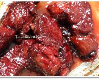 Resep Charsiu Pork Chinese Bbq Pork Mudah Enak Ala Rumah Oleh Tintin Rayner Cookpad Resep Daging Babi Resep Iga