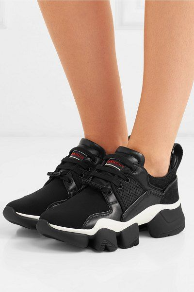 Givenchy Jaw Mesh And Suede-Trimmed