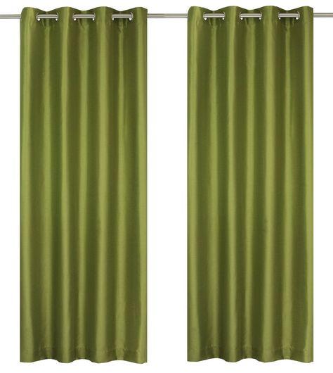 Silkana Faux Silk Grommet Curtain Panels Set Of 2 56x88 In