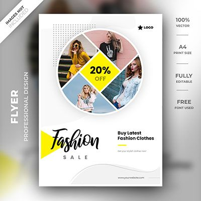 A High Quality Unique Design Template By A Professional Designer Download Your Flyer Now Smart Object Used Flyer Design Templates Flyer Template Fashion Flyer