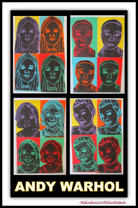 Andy Warhol Printmaking Self-Portraits, complementary colors