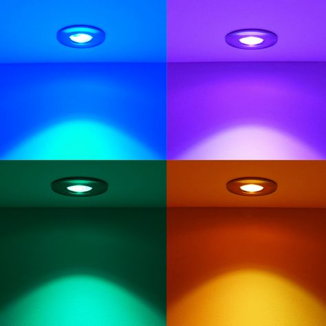 Round Concealed Led Color Changing Ceiling Lamps Built In