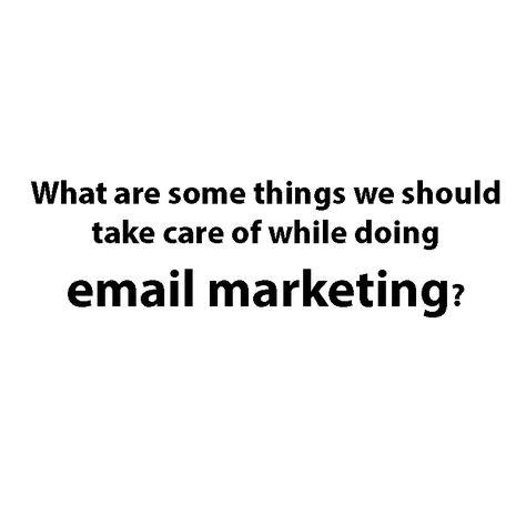 E-Mail Marketing Strategy