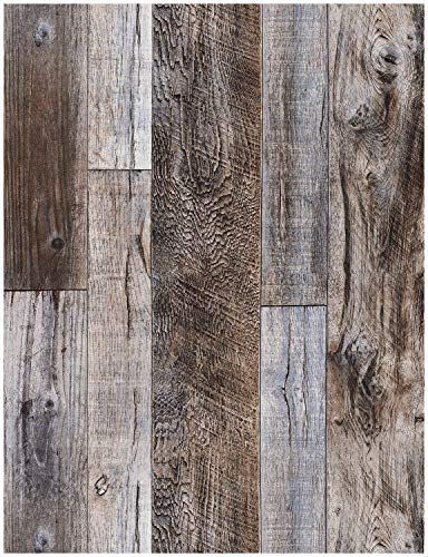 Haokhome 5003 Weathered Faux Wood Plank Wallpaper Slategraybrown 208 X 31ft Barnwood Wallpaper Murals Home Ki Wood Plank Wallpaper Barnwood Wallpaper Barn Wood