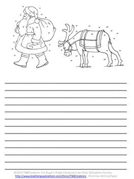 christmas writing paper christmas writing writing paper and creative writing
