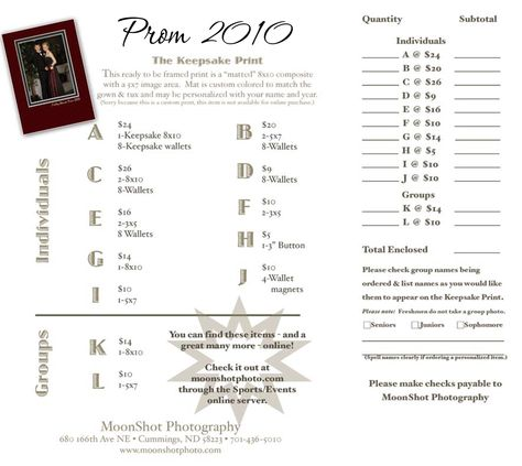 prom portrait order forms FSHP Prom Forms u2022 2010 The biz side - note payable form
