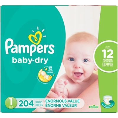 Pampers Baby-Dry Disposable Diapers Size 6 96 Count GIANT