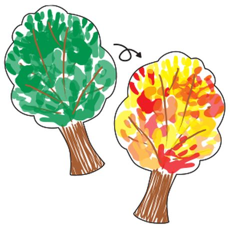 From summer to fall tree craft (with scientific explanation).