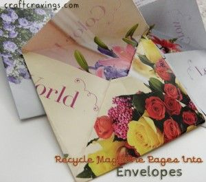 Recycle Magazine Pages Into Envelopes! - Craft Cravings #recycle #papercraftig #envelopes #magazine #calendar #clever