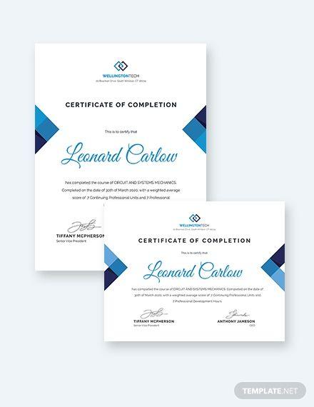 Mechanic Course Completion Certificate Template Free Jpg Google Docs Illustrator Word Apple Pages Psd Publisher Template Net Course Completion Certificate Certificate Templates Words