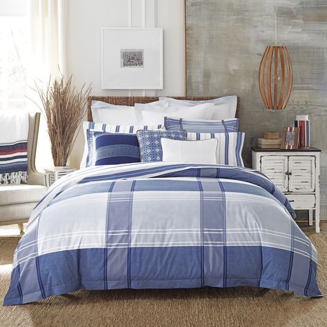 0e913498d With its modern plaid design and range of blues, this all-cotton comforter  is all about soothing nights listening to the waves roll in and sweet ...
