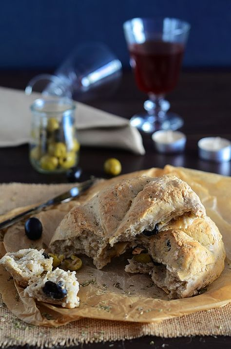 ¡Qué cosa tan dulce!: Pan rápido con aceitunas y orégano