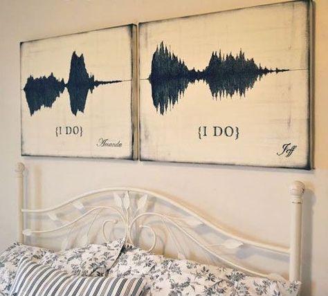 Sound art as a romantic reminder of your vows. Cute Wedding Ideas, Wedding Goals, Perfect Wedding, Our Wedding, Wedding Planning, Dream Wedding, Wedding Inspiration, Wedding Vow Art, Fantasy Wedding