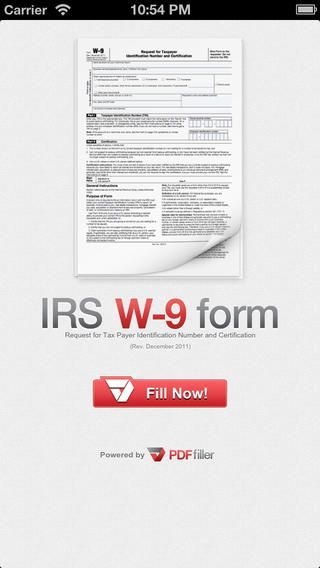 W9Form is a free IOS application that works on the IPad and