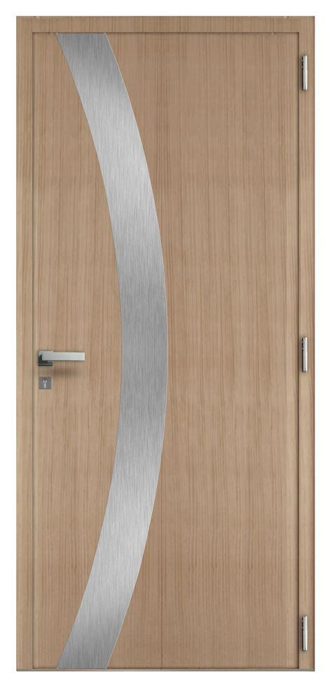 Les douces lignes courbées qui ornent cette porte à galandage - lasure pour bois exterieur