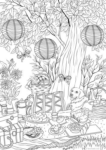 Perfect Day Printable Adult Coloring Coloring Pages Coloring
