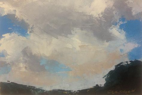 """Sky Holes, oil, 4 x 6"""", © Mary Bentz Gilkerson"""