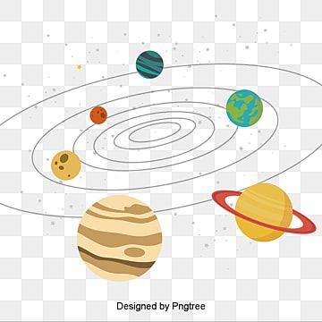 Solar System Cartoon Planets With Stars Solar System Clipart Solar System Png And Vector With Transparent Background For Free Download Planet Vector Solar System Clipart Solar System